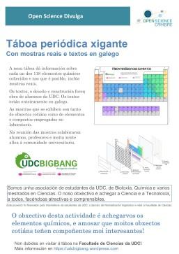 Cartel Open Science Divulga UDCbigbang